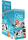 Quest Nutrition Protein Powder, Cookies & Cream, 20g Protein, 1g Net Carbs, 80% P/Cals, 0.99oz Packet, 12 Count, High Protein, Low Carb, Gluten Free, Soy Free, Packaging May Vary