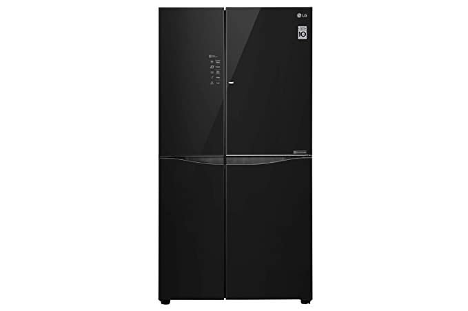 LG 675 L Inverter Wi-Fi Frost-Free Side-by-Side Refrigerator (GC-M247UGBM, Black) Refrigerators at amazon