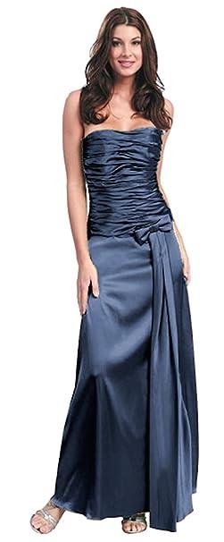 Nachtigall+Lerche - Vestido - Sin Tirantes - Básico - para Mujer Gris Plateado