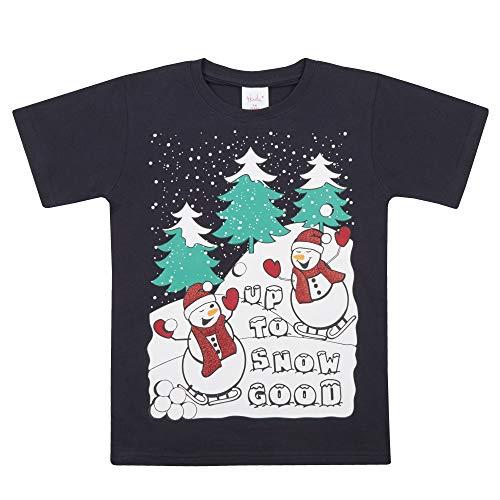 8 shirt Nouveauté 7 4kidz Marine Courtes Good Manches Neige Coton T Enfants Noël ww7U1Hq