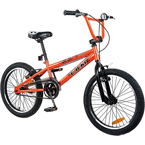 Tauki 20-Inch BMX Freestyle Bike for 8-14 Years Old, Orange