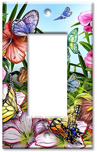 Art Plates - Blue Butterflies Switch Plate - Single Rocker