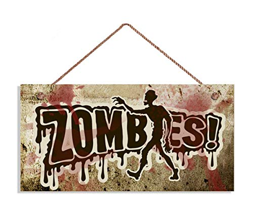 TOPFINES Zombie Sign, Zombies!, Grunge and Blood, 5