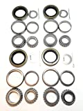 (Set of 4) WPS 3500# Trailer Tandem Axle Bearing Kits L68149 L44649 Grease Seal 10-19 I.D. 1.719'' for #84 Spindle