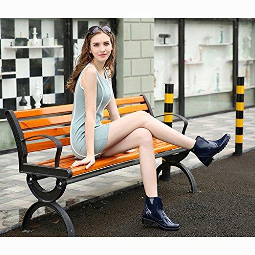Botas Impermeables Lluvia De Botas Azul SGoodshoes Agua Mujer Cortas de 1 Para Mujeres Rqw5IIxUv