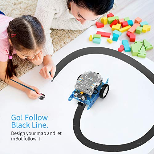 Makeblock mBot Robot Kit, DIY Mechanical Building Blocks, Entry-level Programming Helps Improve Children' s Logical Thinking and Creativity Skills, STEM Education. (Blue, Bluetooth Version, Family) by Makeblock (Image #4)