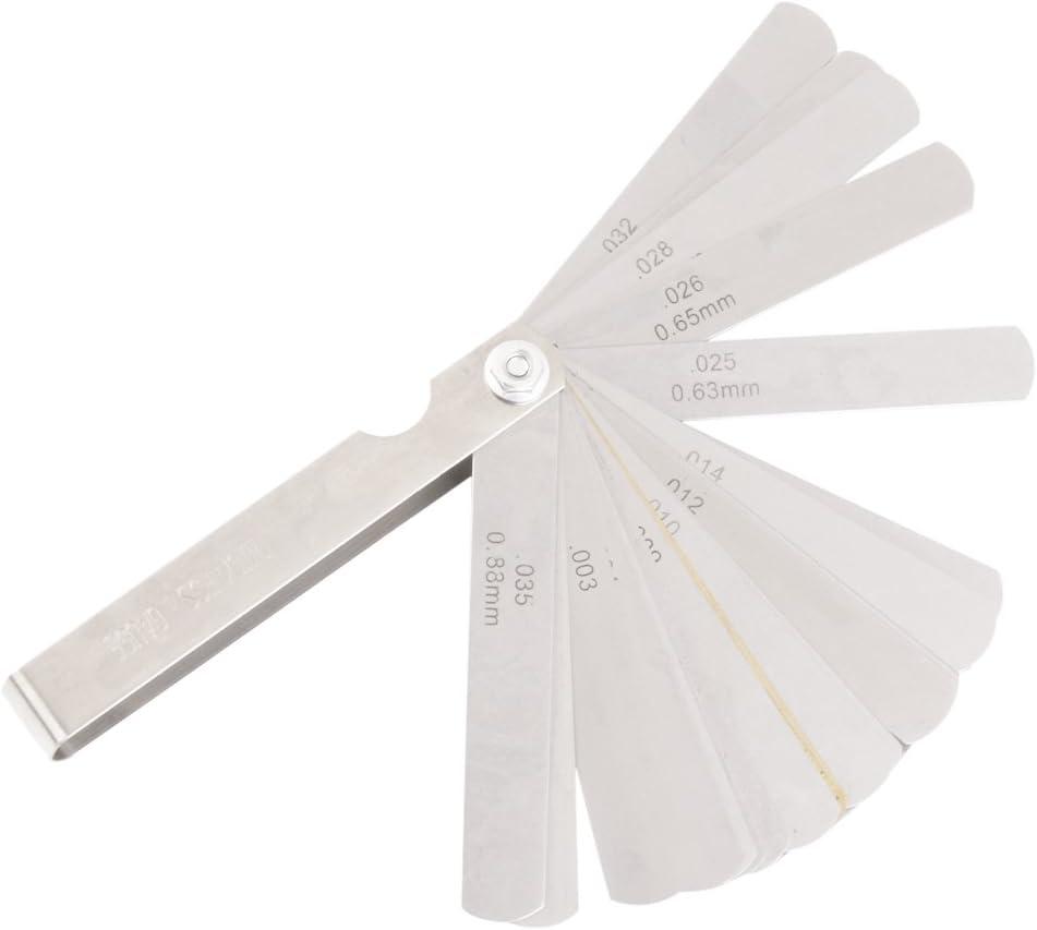 Fühler Lehre Abstandslehre Ventillehre 32 Blatt 0,04-0,88mm
