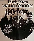 HARRY POTTER Handmade Vinyl Record Wall Clock - Get unique home room wall decor - MARVEL COMICS Gift ideas for parents, teens – GOT Epic Movie Unique Modern Art WINTER IS COMING SEASON 7 6