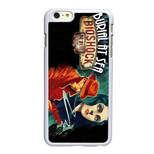 B1U72 BioShock jeu vidéo infinie V6N1CP coque iPhone 6 Plus de 5,5 pouces cas de couverture de téléphone portable coque blanche WY8ICG1UQ
