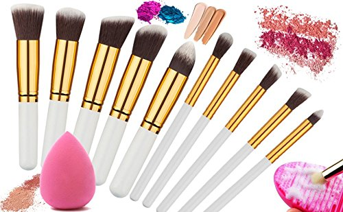 12pcs Makeup Brushes Premium Makeup Brush Set Synthetic Kabuki Makeup Brush Set Cosmetics Foundation Blending Blush Eyeliner Face Powder Lip Brush Makeup Brush