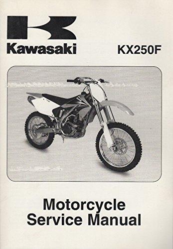 2004-2005 KAWASAKI MOTORCYCLE KX250F SERVICE MANUAL 99924-1324-03 (837)