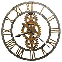 Howard Miller Crosby Wall Clock in Antique Brass