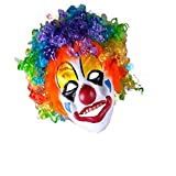 HKJYCstore HKJYC Party Clown Mask Foam Latex With Hair