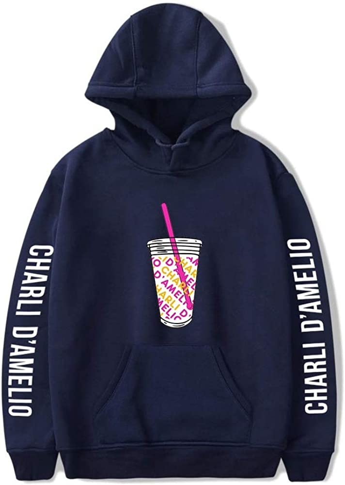 WAWNI 2020 Ice Coffee Splatter Hoodies Sweatshirts Men and Women Hoodie Charli DAmelio Pullover Unisex Costume Tracksuit