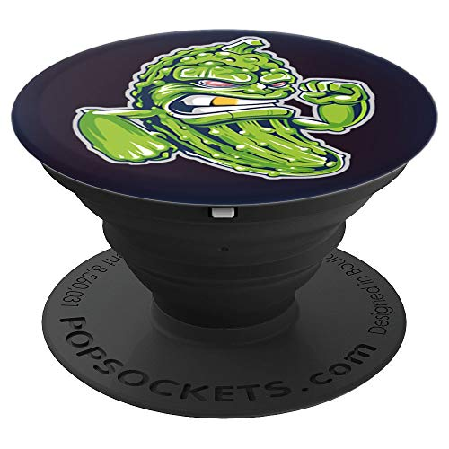 Funny Pickle Dill Cucumber Food Gift Idea - PopSockets Grip and Stand for Phones and Tablets