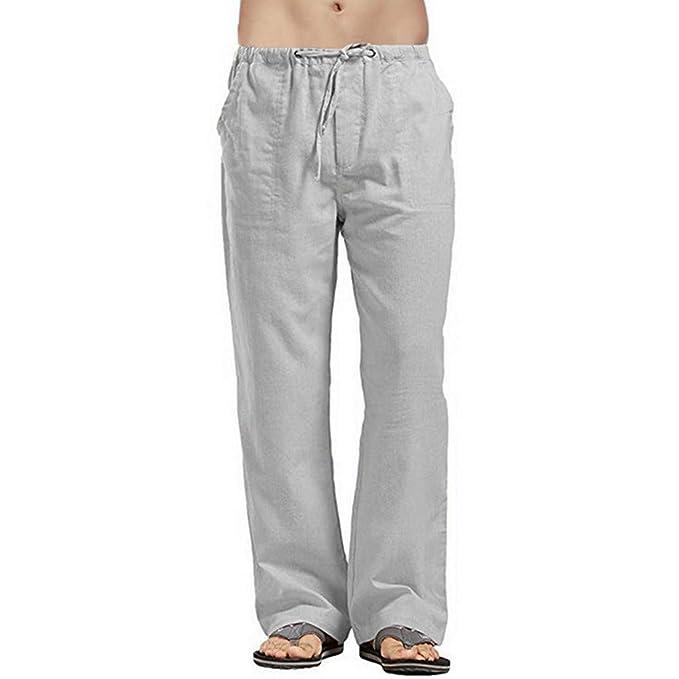 Pantalones De Lino Tallas Grandes Para Hombre Compra
