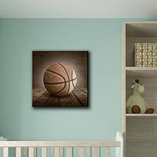 Swish Basketball Rustic Square Sport Panel Celebrating American Sports Traditions