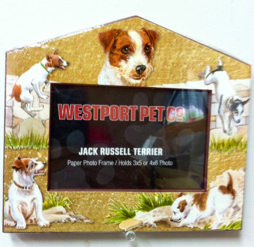 Russell Frame Jack - Jack Russell Dog House Frame 4x6 or 3x5 Pictures