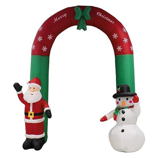 Kingfisher Arco Hinchable de Papá Noel y muñeco de Nieve ...
