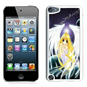 Popular And Unique Designed Cover Case For iPod 5 With Angel Dust Girl Blond Wings Planets white Phone Case