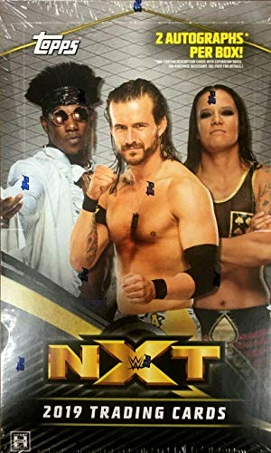 2019 Topps WWE NXT Wrestling HOBBY box (24 pks/bx, TWO Autograph cards)