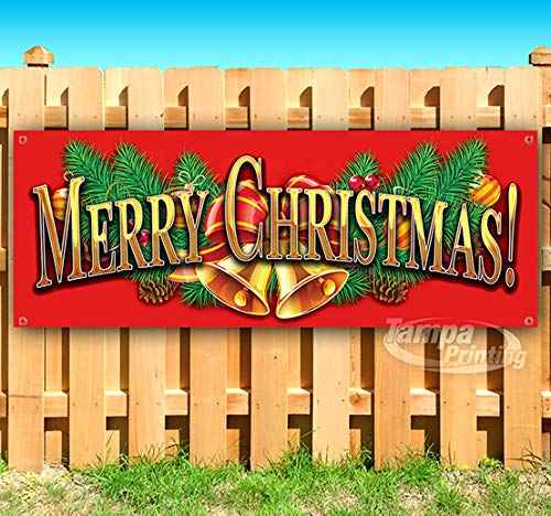 Tampa Printing Merry Christmas 4 13 oz heavy duty vinyl banner with 4 grommets -