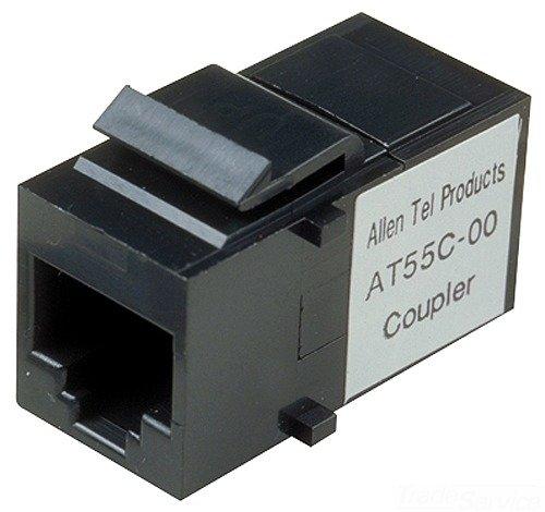 Allen Tel AT55C-00 Category 5e Coupler, Black, 1 Port, T568-A/B (Idc Coupler)