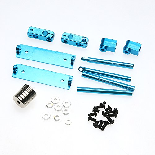 Chinatera Aluminum Magnetic Invisible Body Post Mount Kit For 1/10 RC Car (Blue)