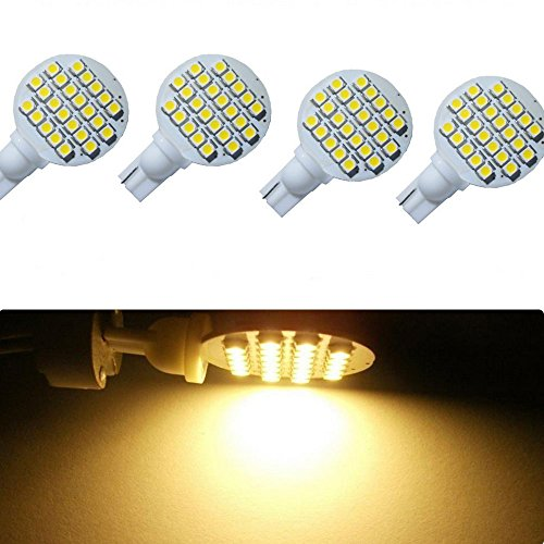 keyecu 4 Pack DC 12V Warm WhiteT10 921 194 24-3528 SMD LED Bulb Lamp Super Bright