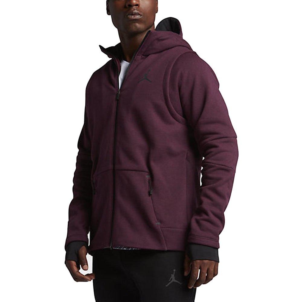 Nike Jordan Shield Tech Fleece Hooded Sweatshirt Burgundy 809486 642 (m) by NIKE