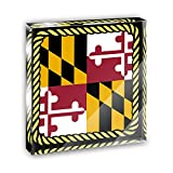 Maryland State Flag Acrylic Office Mini Desk Plaque Ornament Paperweight