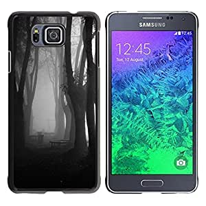 iKiki Tech / Estuche rígido - Fog Forest Dark Black White - Samsung GALAXY ALPHA G850