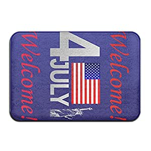 4de julio de América bienvenida Cool monograma Felpudo Funny Doormats al aire libre Doormats