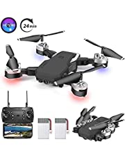 OBEST Mini Drone with 1080P HD Camera WiFi FPV Live Video with 2.4Ghz Mobile Remote Control,3D VR, Headless Mode,Altitude Hold, 3 Speed Flight Modes for Beginners and Children