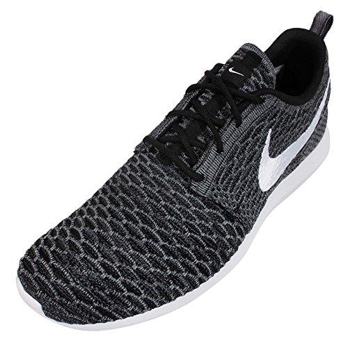 ... Nike Menns Flyknit Rosherun, Svart / Hvit-grå-cool Grey, 10, ...