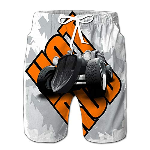 (Hot Rod Mockup Layered Editable Drawstring Shorts Beach Baskestball Pants S )