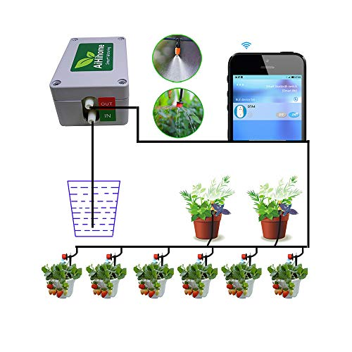 AiHihome Smart Automatic Watering System Indoor Plant Auto Watering - by Bluetooth App Timer Irrigation Controller Watering for Garden Flower Plant (Iphone 4g Flowers)