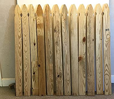 """DuraPine 1""""x4""""x4' Pickets/Balusters for Wood Fence - 6 Pickets"""