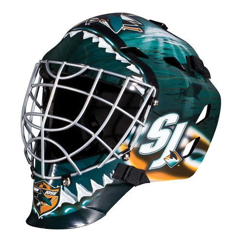 San Jose Sharks NHL Full Size Youth Goalie Hockey Mask - New with Tags - Not for Competitive Play