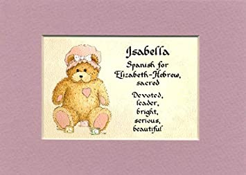 Amazon personalized baby name isabella nursery wall decor personalized baby name isabella nursery wall decor keepsake gift made in the usa negle Gallery