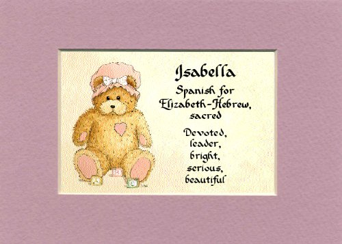 Personalized Baby Name Isabella Nursery Wall Decor Keepsake Gift Made in the USA ()