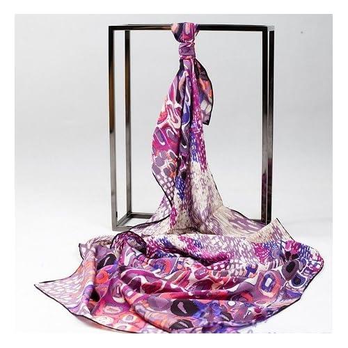 3d3edeae421 delicate Prettystern - 160cm cent eau – écharpe en soie imprimé très ...