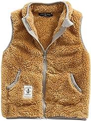 ZETA DIKES Girls Fleece Vest Warm Winter Sleeveless Jacket Zipper Up Waistcoat 2-8T
