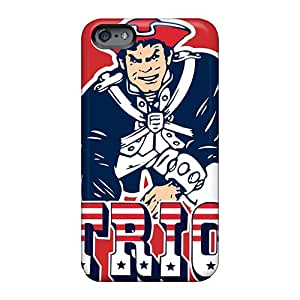 Bumper Cell-phone Hard Cover For Apple Iphone 6 (OqK7719aaEj) Custom Stylish New England Patriots Pattern