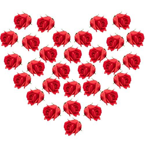 (Bath Soap Rose Flowers 30pcs Floral Scented Artificial Rose Heads Plant Essential Oil Soap Set for Wedding Valentine's Day Mother's Day Party Bouquets Centerpieces Arrangement Home Decoration,)