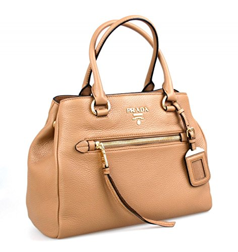 Prada Women's 1BG044 Brown Leather Shoulder Bag (Leather Bag Handbag Shoulder Prada)