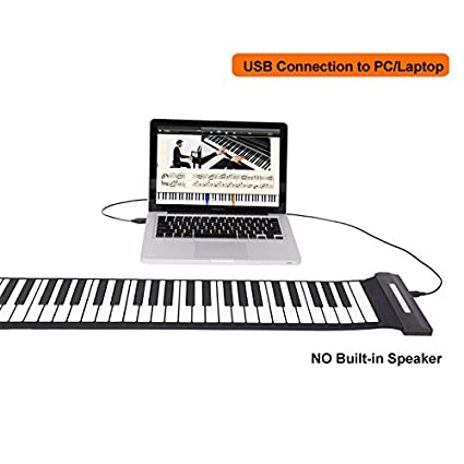 Amazon.com: Roll Up Piano 88 keys Light Weight Electronic Keyboard Silicone Midi Electronic Musical Instruments USB Interface: Musical Instruments