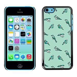 X-ray Impreso colorido protector duro espalda Funda piel de Shell para Apple iPhone 5C - Species Evolution Teal Winter