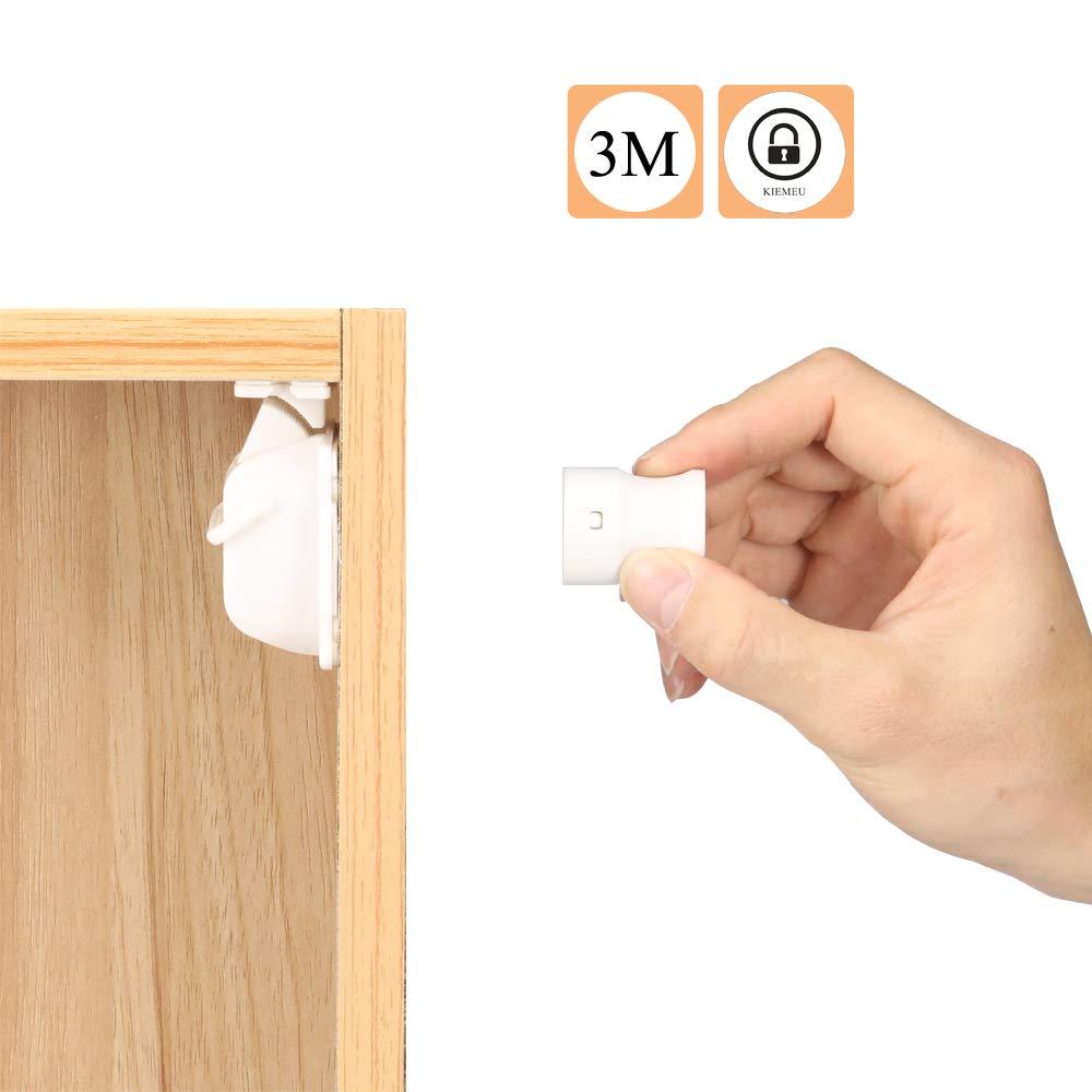 Verrou magn/étique pour s/écurit/é b/éb/é,bloque tiroir et placard pour securite enfant,protection tiroir et placard pour bebe /à la maison,4 verrous /& 1 cl/é