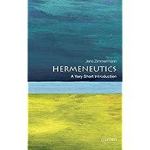 Hermeneutics: A Very Short Introduction (Very Short Introductions)